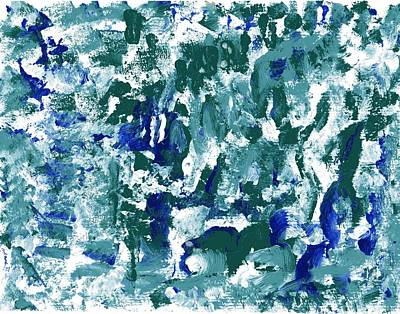 Painting - Blue Green Abstract by Veronica Rickard