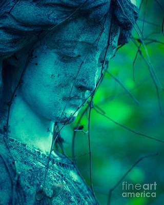 Angel Blues Photograph - Blue Green Angel by Sonja Quintero