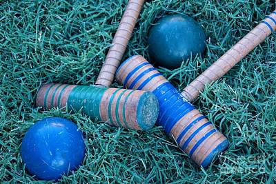 Photograph - Blue Green Croquet by Kerri Mortenson