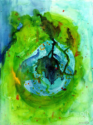 Art Print featuring the painting Blue Green Ether by Mukta Gupta