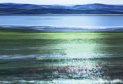 Blue Green Landscape Art Print