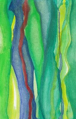 Painting - Blue Green Mood by Laura K Aiken