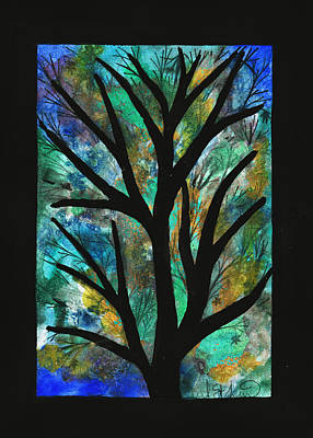 Painting - Blue Green Splash Maple by Barbara St Jean