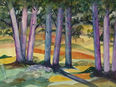 Painting - Blue Grove by Kim Shuckhart Gunns