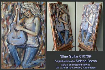 Blue Guitar 010709 Comp Art Print by Selena Boron