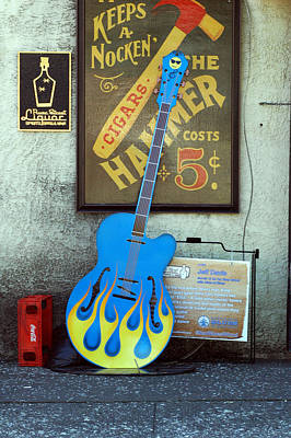 Photograph - Blue Guitar by David Weeks