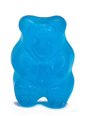 Gummy Photograph - Blue Gummy Bear by Iris Richardson