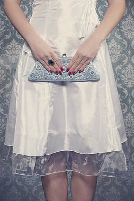 Red Nail Polish Photograph - Blue Handbag by Joana Kruse