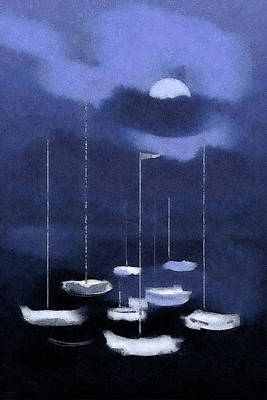Painting - Blue Harbor by Deborah Smith
