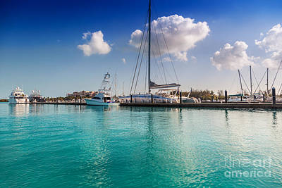 Photograph - Blue Haven Marina Providenciales by Jo Ann Snover