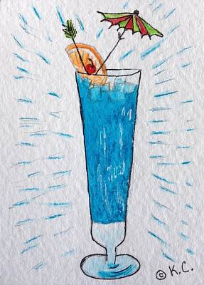 Painting - Blue Hawaiian Cocktail by Kathy Marrs Chandler