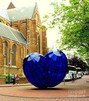 Photograph - Blue Heart Art by John Potts