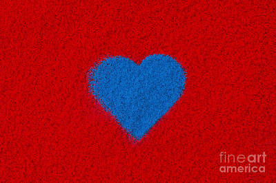 Photograph - Blue Heart by Tim Gainey