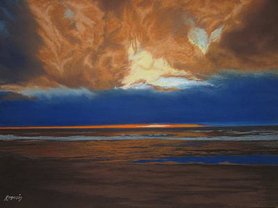 Painting - Blue Heart....stormy Sky by Harvey Rogosin