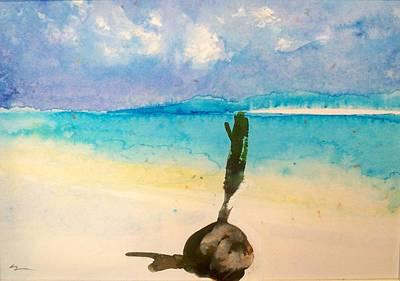 Blue Heaven Art Print by Ed  Heaton