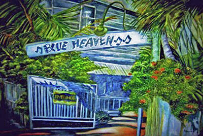 Blue Heaven Key West Art Print