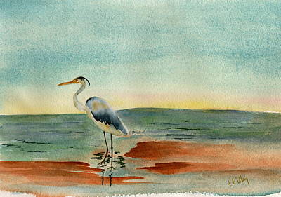 Photograph - Blue Heron At Sunrise by Teresa Tilley