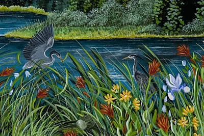 Painting - Blue Heron Breeze by Jennifer Lake