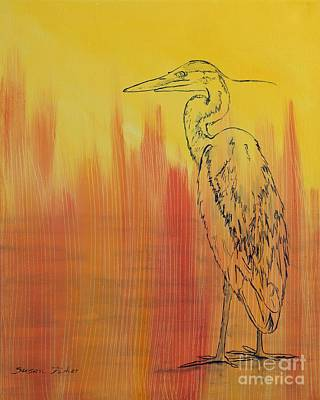 Painting - Blue Heron by Susan Fisher