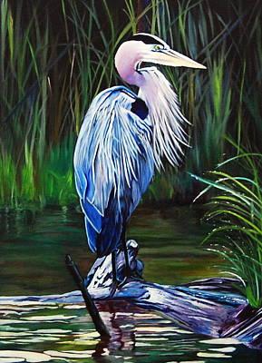 Painting - Blue Herron by Stella Marin