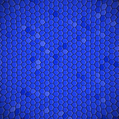 Digital Art - Blue Hexagonal Texture Background by Valentino Visentini