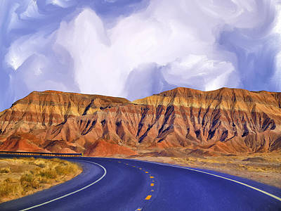 Blue Highway Art Print