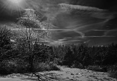 Photograph - Blue Hill After Ice Storn by Steven Mancinelli
