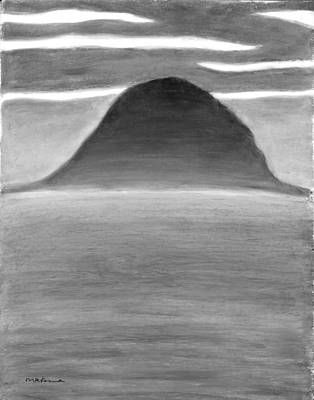 Painting - Blue Hill Black And White by Carrie MaKenna