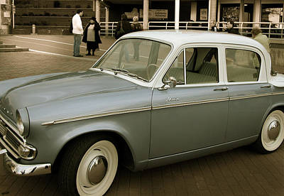 Valerie Paterson Wall Art - Photograph - Blue Hillman Minx by Valerie Paterson