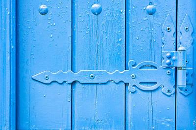 Blue Hinge Art Print by Tom Gowanlock