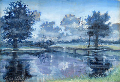 Painting - Blue Bayou by Carolyn Coffey Wallace