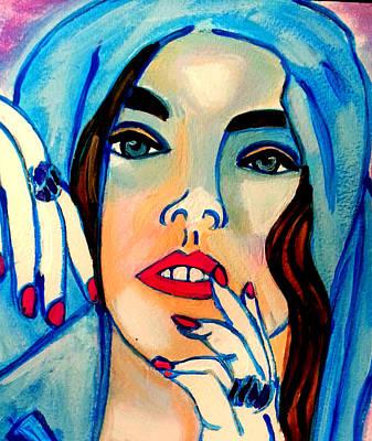 Painting - Blue Hood 2 by Nikki Dalton