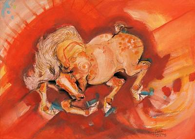 Painting - Blue Hoof by Mary Armstrong