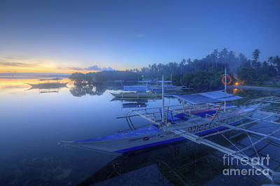 Photograph - Blue Hour At Panglao Port by Yhun Suarez