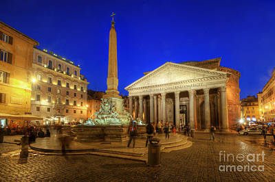 Photograph - Blue Hour At Pantheon by Yhun Suarez