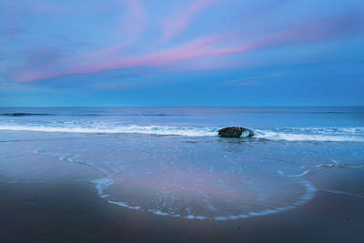 Photograph - Blue Hour Beach by Bill Wakeley
