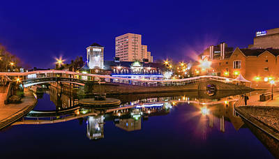 Cityscapes Photograph - Blue Hour In Birmingham by Fiona Mcallister Photography
