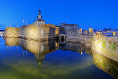 Brittany Photograph - Blue Hour In Concarneau by Patrick Jacquet
