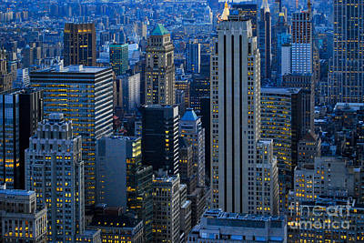 Blue Hour In New York City Usa Art Print
