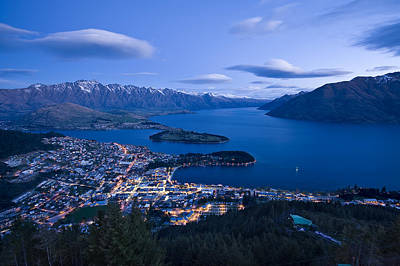 Photograph - Blue Hour In Queenstown by Ng Hock How