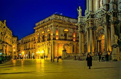 Photograph - Blue Hour In Siracusa - Sicily by Martin Liebermann
