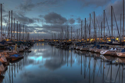 Photograph - Blue Hour Marina by Heidi Smith