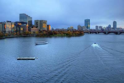 Boston Night Skyline Photograph - Blue Hour On The Charles by Joann Vitali