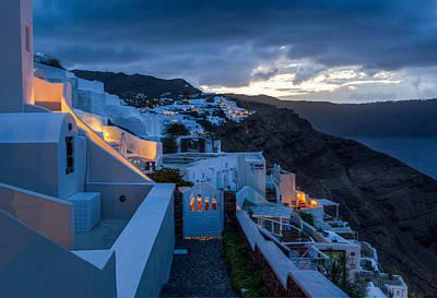 Photograph - Blue Hour Santorini by Brian Grzelewski