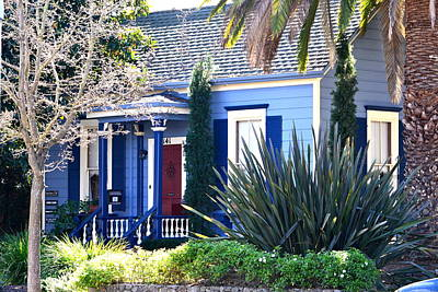 Photograph - Blue House In Napa Valley by Dean Ferreira