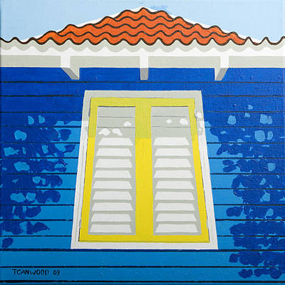 Saba Painting - Blue House by Trudie Canwood