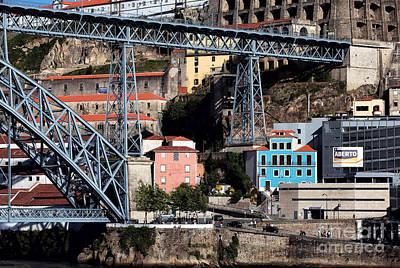 Luis Sales Photograph - Blue House Under The Bridge by John Rizzuto