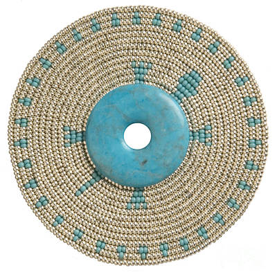 Beadwork Mixed Media - Blue Howlite by Douglas K Limon