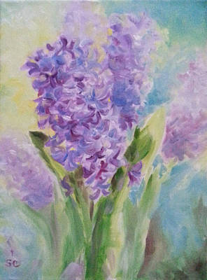 Painting - Blue Hyacinth by Sharon Casavant