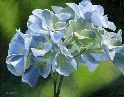 Painting - Blue Hydrangea by Alecia Underhill